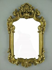 Baroque Mirror, Wall Mirror, Frame from Polystein, Golden Antique
