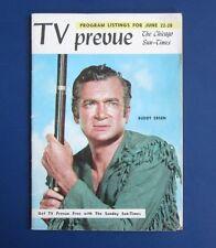 TV prevue Chicago Sun-Times Buddy Ebsen, June 1958 No Label VG