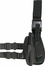 SWAT TACTICAL DROP LEG GUN HOLSTER Left hand Viper SAS black quick release pouch