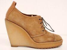 ZARA ★★ Keilschuhe Gr. 38 Damen Leder Hellbraun Schuhe Keilabsatz