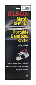 92243 Olson 44.9 L x 0.5 in. W x 0.02 in. thick Bi-Metal Portable Band Saw Blade