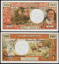 Nouvelle Hébrides 1000 FRANCS (P20b) N. D. (1975) AU/UNC