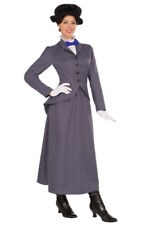 Mary Poppins Nanny Costume/English Nanny- Super Fast shipping for Halloween