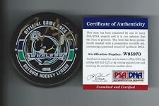 TYLER SEGUIN Signed PLYMOUTH WHALERS Puck PSA/DNA W95970