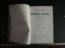 La création et ses mystères dévoilés  A.Snider (EO 1858) (Très rare)