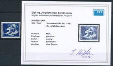DDR Bergbau Mansfeld 1950** seltene Farbe Michel 273 b Befund (S13723)