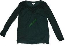 New Women's Maternity Top Green Liz Lange Long Sleeve Shirt NWT Size Small