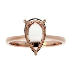 14K Semi Mount Ring Setting PS8X12 mm Rose Gold Pre-notched GR145CCL