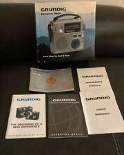 Grundig FR200 Emergency AM/FM Shortwave Crank Radio W/ Light AC/Battery in Box