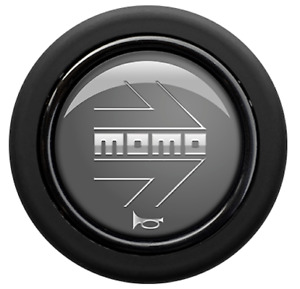 Genuine Momo anthracite steering wheel horn push button.Grey, silver arrow logo.