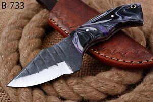 "6"" Custom Hand Forged Railroad High Carbon Steel Hunting Skinner Knife (733)"
