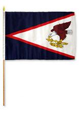 "12x18 12""x18"" Wholesale Lot of 6 American Samoa Stick Flag wood staff"