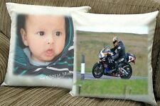 "Cotton Velvet Custom 16"" Cushion Pillow Case Cover Personalised Custom A4 photo"