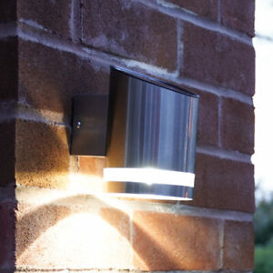 Solar Power Outdoor Stainless Steel LED Welcome Wall Light | Garden Fence