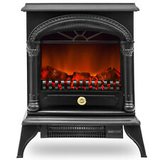New 1850W Log Burning Flame Effect Stove Electric Fire Heater Fireplace Standing