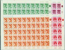 Israel, 386-393, MNH, Arms of Hadera, 1969-73  Full Sheets