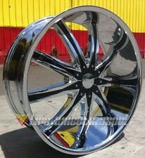 "22"" INCH DW29 CHR RIMS AND TIRES 5X127 IMPALA SS CAPRICE GRAND CHEROKEE C10"