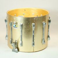 "Vintage Ludwig 12"" x 15"" Marching Snare Drum Shell  Blue Olive Badge PROJECT DIY"