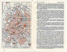 Lecce 1940 picc. pianta di città orig. + guida (3 p.) S-Biagio Orfanotrofio