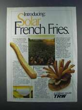 1981 TRW Solar Energy System Ad - French Fries