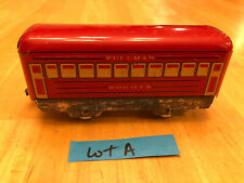 Marx O Train ZINC SILVER BASE Red 4 wheel Pullman Bogota Passenger Car 1938 LotA