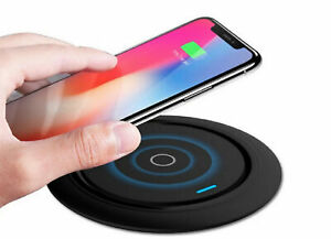 Wireless Charger Qi Ladegerät Induktions Ladestation Kabellos Iphone Samsung 15W
