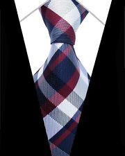 Regalos Para Hombres Clásico Para hombres Corbata Corbata Seda A Rayas cheque a Rayas Azul Rojo Blanco