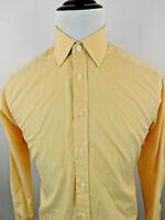 Charles Tyrwhitt Men's Striped Long Sleeve Dress Shirt sz 15.5 - 35 Orange