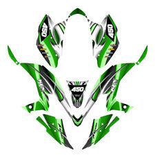 Kawasaki KFX 450 R graphics decal kit Design #1300 Green Free Custom Service