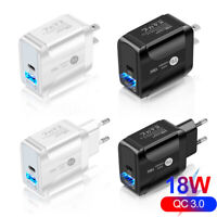 Universal QC3.0 Fast Quick Charge PD 18W Wall Charger Power Adapter US EU Plug
