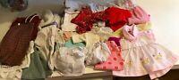 Vtg Doll Lot 30+ Dresses, Rompers, PJ's, Sweaters, pants, ETC Various Sizes
