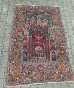 Teppich 185 cm x ca 121 cm Yahyali Gebetsteppich Signiert