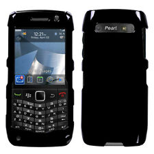 For Blackberry 9100 (Pearl 3G) Solid Black Phone Protector Case Cover
