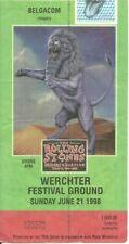 RARE / TICKET CONCERT - THE ROLLING STONES : LIVE A WERCHTER ( BELGIUM ) 1998