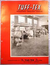 FLINTKOTE TILE-TEX ASBESTOS TUFF-TEX Floor Flooring '53