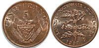 RWANDA 5 FRANCS 1987  KM#13 UNC!!!