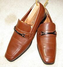 """ECCO """"Stewart"""" Bit Loafers Shoes - Mens Size 9 - Brown - Excellent Condition!"""