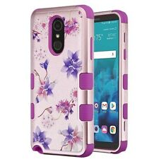 LG Stylo 4 image HYBRID Armor Impact Rubber Dual Layer Rugged Case Phone Cover