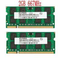 4GB 2 x 2GB PC2-5300 DDR2-667MHz 200Pin CL5 SODIMM Portable RAM Pour Elpida FR