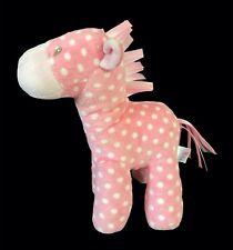 "Gund Baby Pink White Giraffe Polka Dots Plush Stuffed Animal Toy Lovey 9-1/2"""
