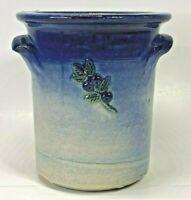 Johnson Pottery Camden Maine Original Cobalt Blue Crock Signed