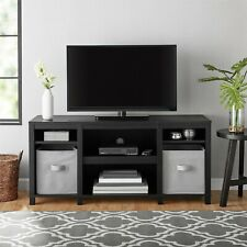 Mainstays Parsons Wood TV Stand for up to 50 inch TVs - Black