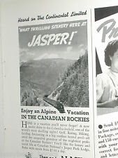 1938 Canadian National Railways half-page advertisment CNR Continental Limited