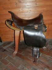 Antique WW1 1914 Universal Pattern Military Leather Saddle (UPS) 'HAWLE & SON'