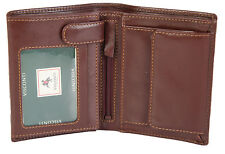 Visconti Luxury Brown Leather 8 Card Bifold Wallet With RFID Protection - MZ3
