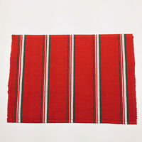 Jingle Jingle Christmas Red & Green Striped Cotton Ribbed Single Placemat