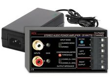 RDL TX-PA40D 40 W Stereo Audio Power Amplifier with Power Supply