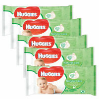 Huggies Baby Wipes Natural Care With Aloe Vera Toilet Tissue 5 x 56 (280 Wipes)