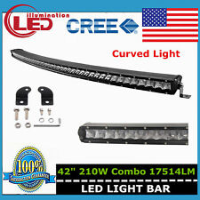 """Curved CREE Single Row 42"""" 210W LED Light Bar Combo Offroad Jeep Ford /150W/240W"""