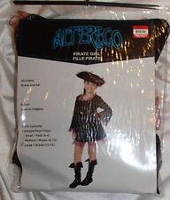 Pirate Girls Kids Dress & Hat Halloween Costume